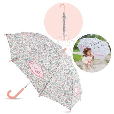 Šolske potrebščine - Rožasti dežnik Flowers Umbrella Les Bagages Corolle 62 cm ročaj a 83 cm premer_1
