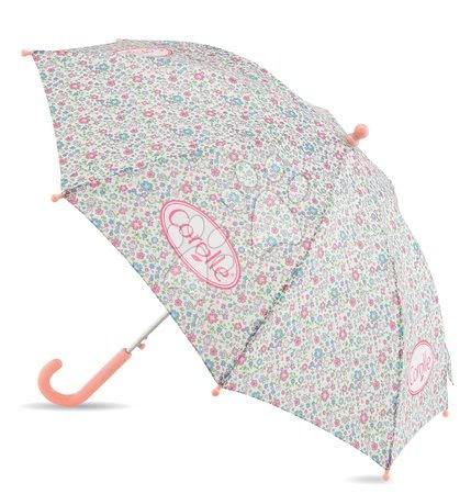 Rožasti dežnik Flowers Umbrella Les Bagages Corolle 62 cm ročaj a 83 cm premer