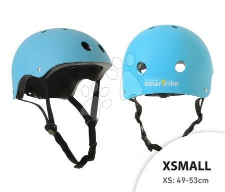 Prilba Blue smarTrike XS nastaviteľná veľkosť 49-53 cm s 11 vetračkami modrá