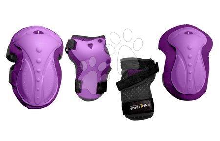 Vozidlá pre deti smarTrike - Chrániče Safety Gear set S smarTrike na kolená a zápästia z ergonomického plastu fialové od 6 rokov
