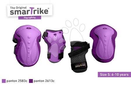 Vozidlá pre deti smarTrike - Chrániče Safety Gear set S smarTrike na kolená a zápästia z ergonomického plastu fialové od 6 rokov_1