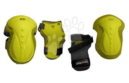 Vozidlá pre deti smarTrike - Chrániče Safety Gear set S smarTrike na kolená a zápästia z ergonomického plastu zelené od 6 rokov