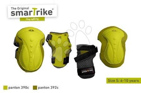 Vozidlá pre deti smarTrike - Chrániče Safety Gear set S smarTrike na kolená a zápästia z ergonomického plastu zelené od 6 rokov_1