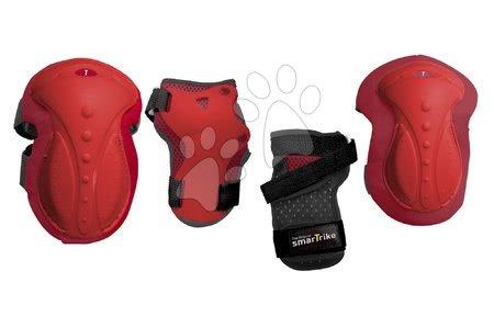 Vozidlá pre deti smarTrike - Chrániče Safety Gear set M smarTrike na kolená a zápästia z ergonomického plastu červené od 9 rokov