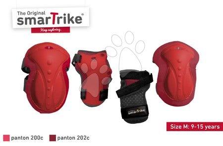 Vozidlá pre deti smarTrike - Chrániče Safety Gear set M smarTrike na kolená a zápästia z ergonomického plastu červené od 9 rokov_1