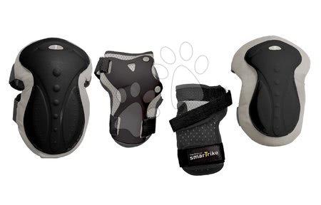 Vozidlá pre deti smarTrike - Chrániče Safety Gear set M smarTrike na kolená a zápästia z ergonomického plastu čierne od 9 rokov
