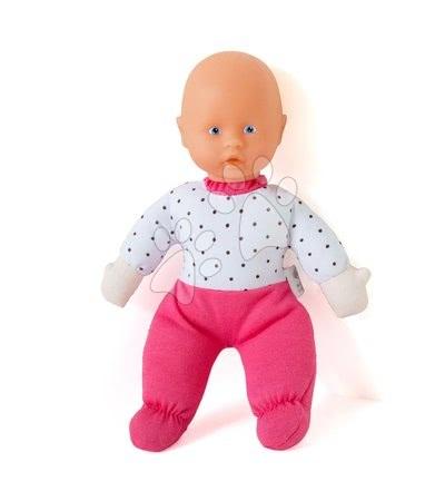 Bábiky pre dievčatá - Bábika malá Petit Bebe Nursery Écoiffier 20 cm v ružových dupačkách od 18 mes