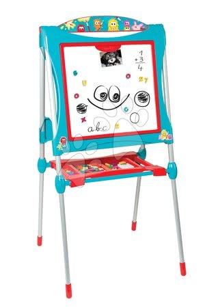 Kreativne i didaktičke igračke - Magnetna ploča za crtanje Smoby 125 cm visoka s policom i 128 dodataka plava_1
