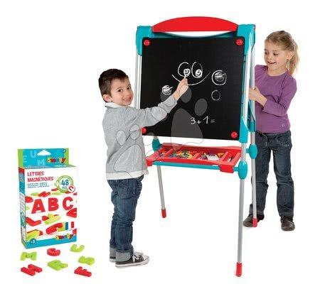 Kreativne i didaktičke igračke - Magnetna ploča za crtanje Smoby 125 cm visoka s policom i 128 dodataka plava
