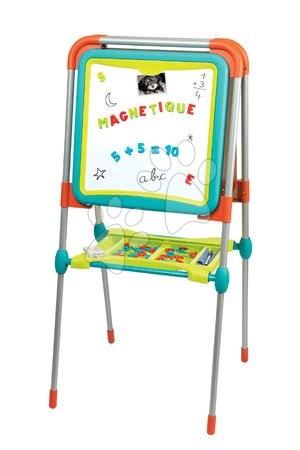 Kreativne i didaktičke igračke - Set ploča za crtanje i magneti Ultimate Board Smoby obostrana sklopiva i magnetna abeceda i brojevi 72 kom_1