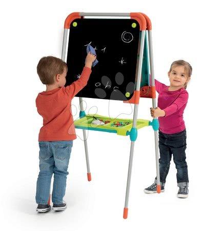 Kreativne i didaktičke igračke - Ploča za crtanje i magneti Ultimate Board Smoby obostrana, sklopiva, s prostorom za odlaganje i 80 dodataka_1