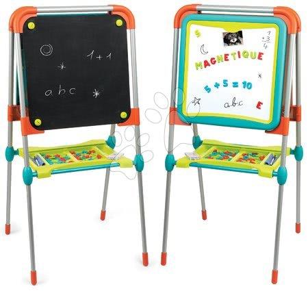 Kreativne i didaktičke igračke - Ploča za crtanje i magneti Ultimate Board Smoby obostrana, sklopiva, s prostorom za odlaganje i 80 dodataka