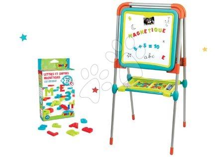 Set tabule na kreslení a magnetky Ultimate Board Smoby oboustranná skládací a magnetická abeceda a čísla 72 kusů