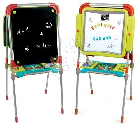 Kreativne i didaktičke igračke - Set ploča za crtanje i magneti Evolutiv Board Smoby podesiva obostrana i stol s dvije stolice Kid_1