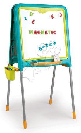 Tablă magnetică pentru învăţat Activity Smoby cu două feţe cu 80 de accesorii albastru