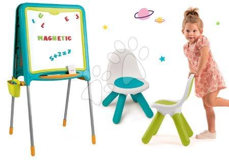 Kreativne i didaktičke igračke - Školska ploča Smoby magnetna obostrana, 80 dodataka i 2 stolca KidChair