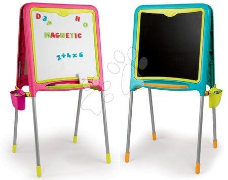 Školní oboustranná magnetická tabule Activity Smoby s 80 doplňky modrá/růžová