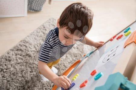 Kreativne i didaktičke igračke - Drvena obostrana ploča Wooden Easel Smoby magnetna/na krede sklopiva s 80 dodataka_1
