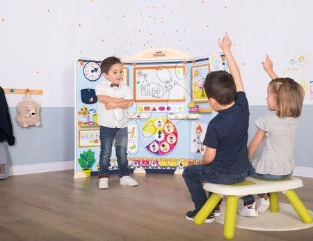 Kreativne i didaktičke igračke - Set škola za predškolce School Smoby Igra učitelja i učenika s trima stolcima_1