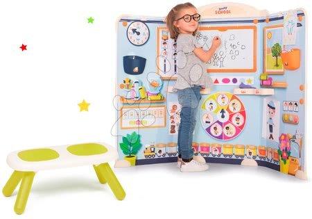 Kreativne i didaktičke igračke - Škola za predškolce School Smoby Igra učitelja i učenika sa zelenom klupom