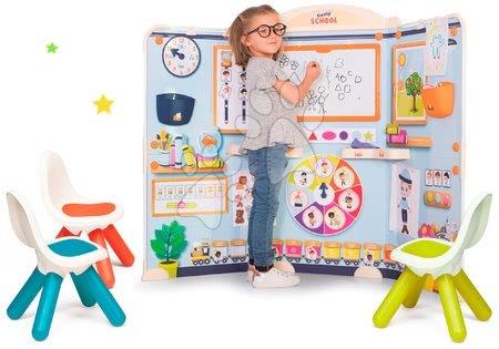 Kreativne i didaktičke igračke - Set škola za predškolce School Smoby Igra učitelja i učenika s trima stolcima