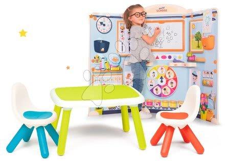 Set škola pro předškoláky School Smoby Hra na učitele a žáka se zeleným stolem a 2 židle