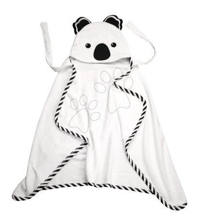 Brisača za najmlajše Koala Bamboo toTs-smarTrike Black&White s kapuco 100% nežni bambus in bombaž