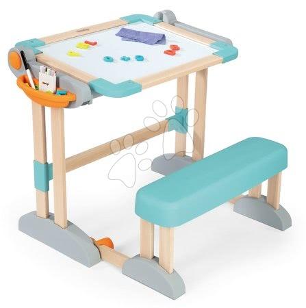 Kreativne i didaktičke igračke - Klupa za crtanje i pisanje Modulo Space Desk Smoby magnetna/na kredo obostrana s 80 dodacima_1