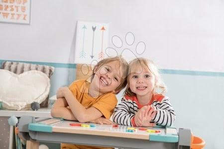 Kreativne i didaktičke igračke - Set drvena klupa Modulo Space sklopiva magnetna Smoby za kredu i magnetna slova, brojke i znakovi_1