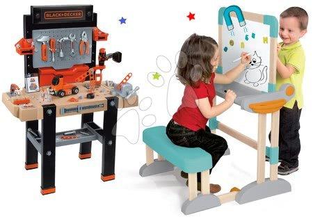 Kreativne i didaktičke igračke - Set drvena klupa Modulo Space sklopiva magnetna Smoby za kredu i dizajnerski studio Maggie&Bianca