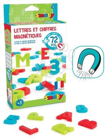 Litere magnetice ABC Smoby numere şi semne 72 bucăţi