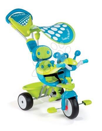 Trojkolka Baby Driver Confort Sport Smoby od 10 mesiacov modro-zelená