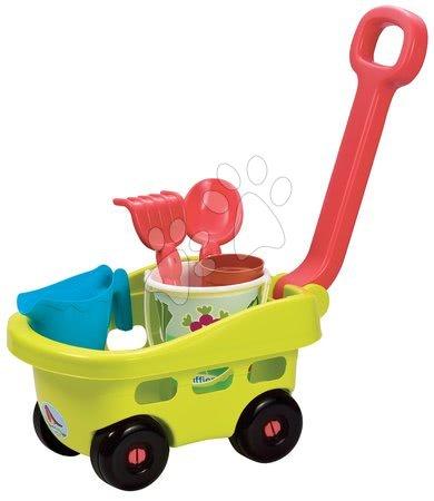 Fúriky do piesku - Záhradný vozík Garden&Seasons Écoiffier s doplnkami na záhradu od 18 mes