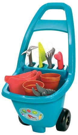 Hry na záhradníka - Vozík so záhradným náradím Garden&Seasons Écoiffier s 8 doplnkami od 18 mes
