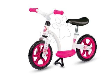 Tanulóbicikli Learning Bike Smoby magasságra állítható üléssel fehér-rózsaszín 24 hó-tól