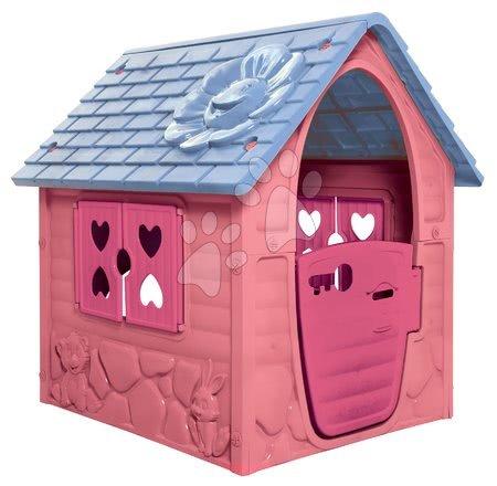 Zahradní domeček My First Playhouse Dohány růžový s květinkou na střeše od 24 měsíců