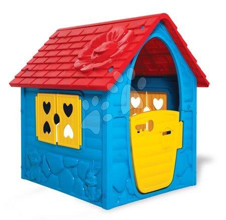 Zahradní domeček My First Playhouse Dohány modrý s květinkou na střeše od 24 měsíců