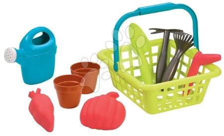 Hry na záhradníka - Košík s krhličkou Garden&Seasons Écoiffier a s potrebami na záhradu od 18 mes