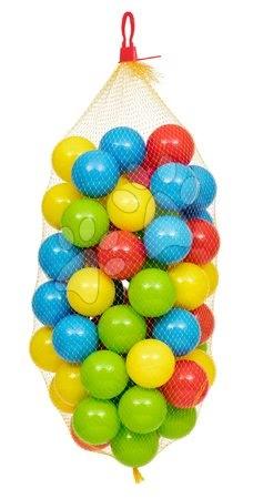 Labdák - Műanyag labdácskák hálóban Dohány 6,5 cm színesek 60 drb