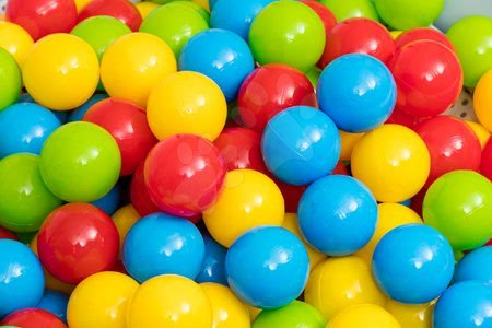 Labdák - Műanyag labdák hálóban Dohány 6,5 cm színesek 100 darab_1