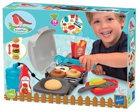 Hry na zahradníka - Gril na zahradu Garden&Seasons Écoiffier s hamburgerem a 19 doplňky od 18 měsíců_1