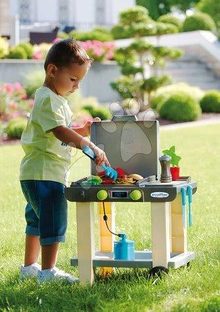 Obyčejné kuchyňky - Gril na zahradu The plancha Écoiffier s kuchyňským nářadím a potravinami 23 doplňků od 18 měsíců_1