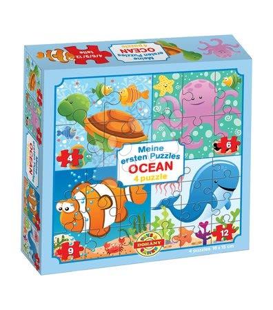 Hračky pro nejmenší - Puzzle pro nejmenší Moje první puzzle Oceán Dohány 4-6-9-12 dílů od 24 měsíců