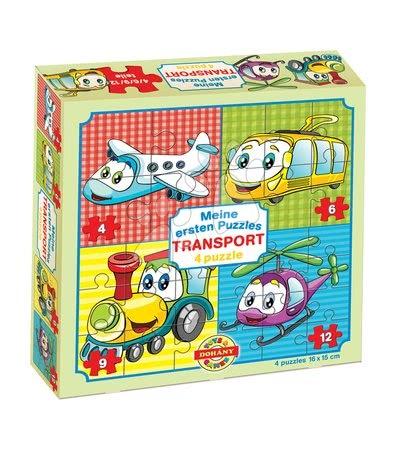 Hračky pro nejmenší - Puzzle pro nejmenší Moje první puzzle Dopravní prostředky Dohány 4-6-9-12 dílů od 24 měsíců