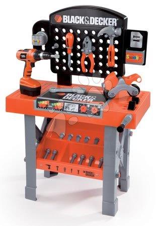 Pracovní dětská dílna - Set pracovní dílna Black&Decker Smoby s mechanickou vrtačkou a elektronická motorová pila_1