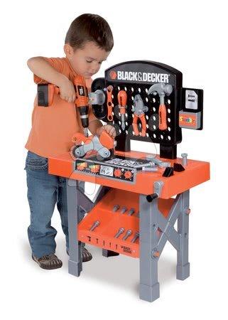 Pracovní dětská dílna - Pracovní dílna Black&Decker Smoby s mechanickou vrtačkou, motorkou a 25 doplňky_1