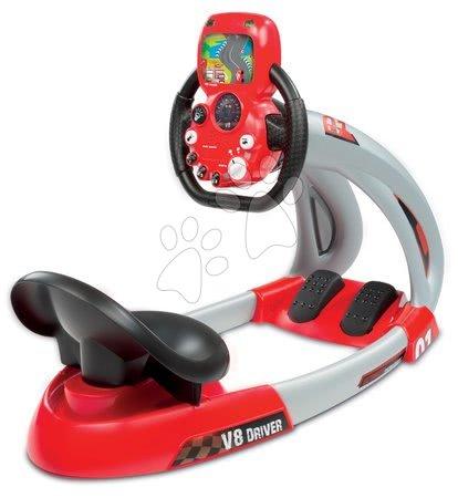 Autíčka a trenažéry - Závodní trenažér V8 Driver Smoby elektronický se zvukem