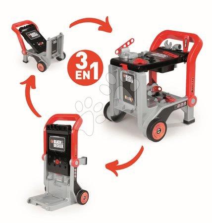 Pracovní dětská dílna - Pracovní vozík Black&Decker Devil Workmate 3v1 Smoby a kufřík s nářadím Tooly_1