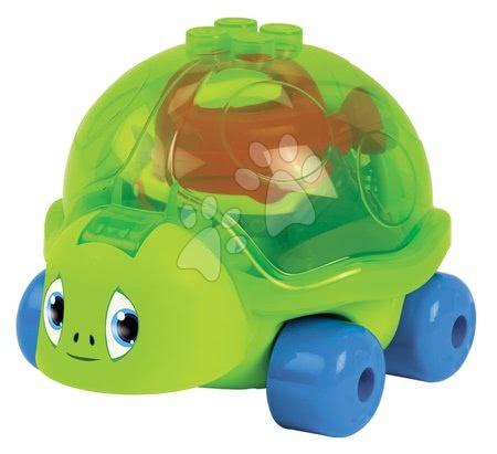 Želva na kolečkách s kbelík setem Écoiffier sítko, hrábě, lopatka, konvička a bábovčka do písku od 18 měsíců