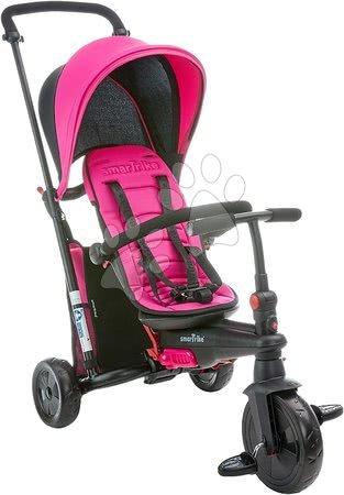 Tříkolky - Tříkolka skládací smarTfold 400S Pink 6v1 smarTrike TouchSteering růžová kompaktní s EVA kolečky od 9 měsíců